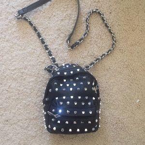 LF Black studded mini shoulder bag